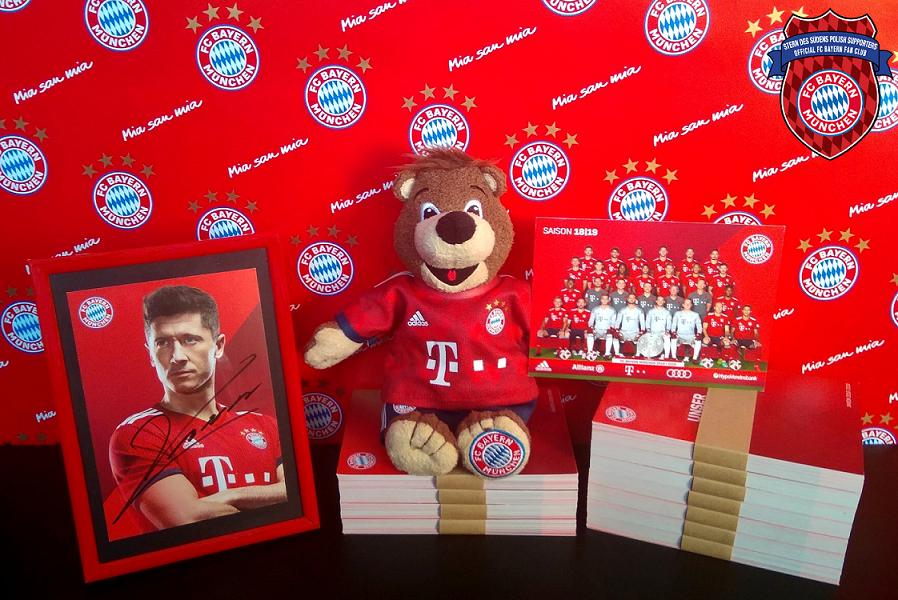 31.01.2019 Autografy graczy klubu FC Bayern Monachium