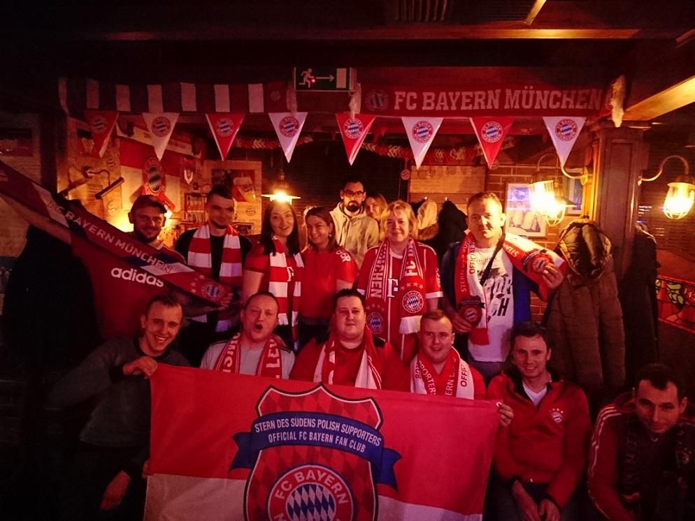 19.02.2019 Spotkania meczowe Oddziałów Regionalnych Fanklubu: 1/8 finału Ligi Mistrzów Liverpool F.C. – FC Bayern Monachium