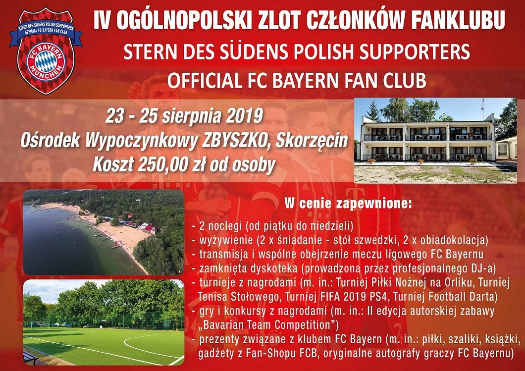 23-25.08.2019 Zapraszamy do udziału w V Ogólnopolskim Zlocie Członków Fanklubu